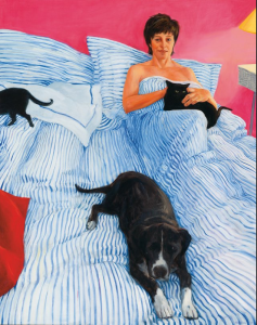 Kristin Headlam, 'Self Portrait, in bed with the animals,' 1999, Tweed Regional Gallery