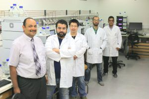 Associate Professor Ashraf Ghanem and his research team, PhD candidate Muhammed Alsherbieny, researcher assistant Chexu Wang, and PhD candidates Mohamed Ali and Ali Fouad.