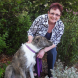 Pets and Positive Ageing patron Mary Porter with Lola, her Irish Wolfhound cross.