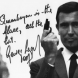 Author Overall's autographed photo of one-time James Bond, George Lazenby.