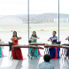 """Zither players from the China Orient Orchestra perform at the """"Taking Flight"""" concert. Photo by Peter Hislop"""
