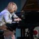 Pianist Lisa Moore in full flight. Photo by Peter Hislop