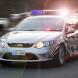 Police Car in Traffic-web