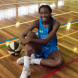 """Basketballer Ezi Magbegor… """"I'm really enjoying my first season as a Capital. We have a really good group of girls."""" Photo by Maddie McGuigan"""
