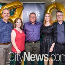 Andrew Freer, Jo Twible, Des Moore, Erin Bedford and Mark Tigwell