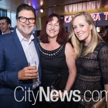 Ross Cunningham, Les Hawkins and Angela Gahan