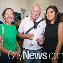 Carol Cains, Andrew Montana and Bianca Winataputri
