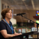 Pam Merrigan at the Library