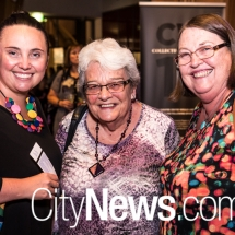 Alice Clements, Janne Graham and Heather Grove