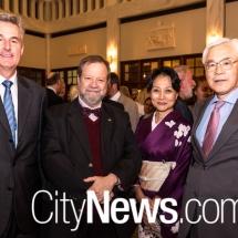 Pedro Zwahlen, Manuel Innocencio de Lacerda Santos Jr with Ikuko and Sumio Kusaka