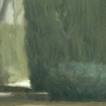 Peter Boggs - 'Study for Giardino dei sogni III', 2017, oil on panel, 12 x 18cm