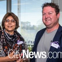 Sunita Dhindsa and Nick Prosser
