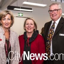 Fiona Godfrey with Jayne and Alan Francis
