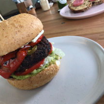 Mexican veggie burger 2