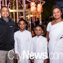 Rasika, Sadith and Ishan Ranthilaka with Rasika Weerasinghe