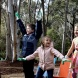 Costa Georgiadis and local children declare the Conservation and Research Garden at the Australian National Botanic Gardens officially open