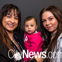 Catherine and Anna Malak with Ashleigh Foster