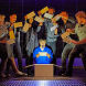 """Joshua Jenkins (as Christopher Boone) and company in """"The Curious Incident of the Dog in the Night-Time"""". Photo by Brinkhoff Mögenburg"""
