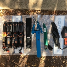 Seized fishing knives