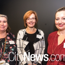 Sharon Perry, Minister for Transport Meegan Fitzharris and Amanda Whitley