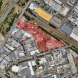 In red, the Wiluna Street site of the planned domestic rubbish dump at Fyshwick… right in the middle of an area where people shop for furniture, white goods and a lot more. Photo Google Maps