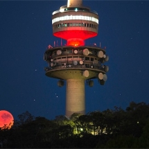 Blood Moon in Canberra on Saturday, July 28. Photo by Andrew Campbell