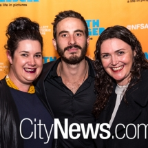 Lucy Guest, Ryan Corr and Melanie Bagg