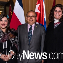 Salima Estefan, Ambassador Jairo Hernández Milián and Veronica Cartaya