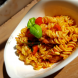 Vapiano's fusilli with sun-dried tomato pesto… the dish included a generous serve of plump prawns. Photo by Wendy Johnson