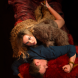 """Joanna Richards and Craig Alexander in """"Venus in Fur""""... """"It's a very sexy play and you don't feel as if you're in a tragedy – you laugh,"""" says Richards."""