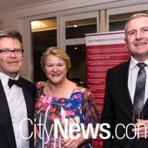 His Honour Shane Gill, Her Honour Margaret Hunter and Ian Bradfield