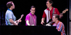 "A scene from ""Jersey Boys"" in Sydney. Photo by Jeff Busby."