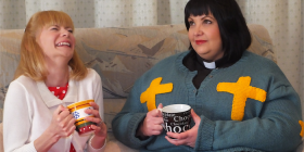 Kasey Tomkins as Alice and  and Karyn Tisdell as the vicar of Dibley... hysterically funny .