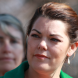Wrong-jock shock for Senator Sarah Hanson-Young. Photo by Mike Welsh