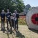 Mark Cartwright (Royal Australian Mint), Zed Seselja an  Brendan Nelson (Australian War Memorial) at the launch of the coins