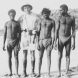 Fred Rose the anthropologist with Nertichunga, Machana and Nabia in Groote Eylandt, 1941. Photo State Library of NSW
