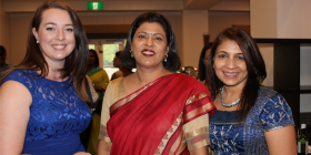 Chloe Heath, Varsha Gondane and Chhaya Bhojani