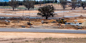 Construction of the first stage of Ginninderry. Photo by Paul Costigan