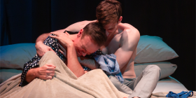 "Craig Alexander as Jasper Ferrier and Ethan Gibson as Craig Morron in ""Exclusion"". Photo by Shelly Higgs"