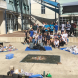 Lake Ginninderra College students learn more about recycling.