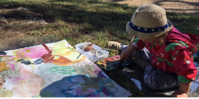 Toddler artist at Lanyon