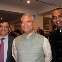 Vishnu Sharma, India high commisioner Dr Ajay Marotrao Gondane and Surya Nemai