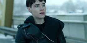 "Claire Foy as Lisbeth Salander in ""The Girl in the Spider's Web""."