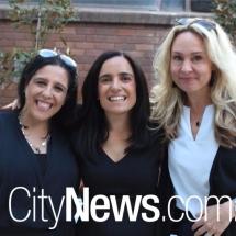 Connie and Caterina Giorgi with Sarah Robinson