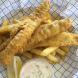 Battered flathead… beautifully coated and the batter lovely and light. Photo by Wendy Johnson