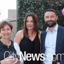 Vicky Saunders, Elisha Judd and Justin Barker