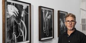 David Rosetsky with his work at the NGA. Photo: Alanna Bishop