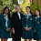 Canberra Girls Grammar principal Anna Owen with, from left, school vice captain Nithya Mathews, school captain Ailin He and boarding house captain Nancy Xia. Photo: Holly Treadaway