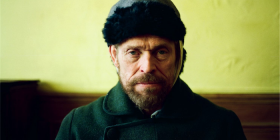 "Willem Dafoe as Vincent van Gough in ""At Eternity's Gate""."