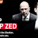 "UnionsACT websites appeal for volunteers in its ""Dump Zed"" campaign."